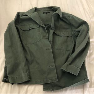 KENDALL&KYLIE PACSUN Oversized Olive Green Jacket
